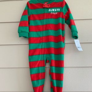 Carters Christmas Onesie 12 months NWT